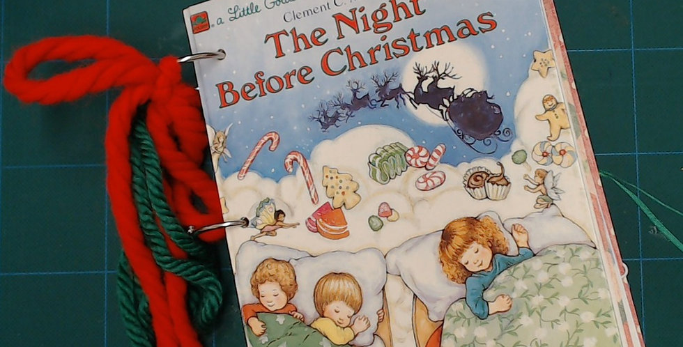 Vintage Little Golden Book Christmas Treasury Junk Journal - Video Flip Thru!
