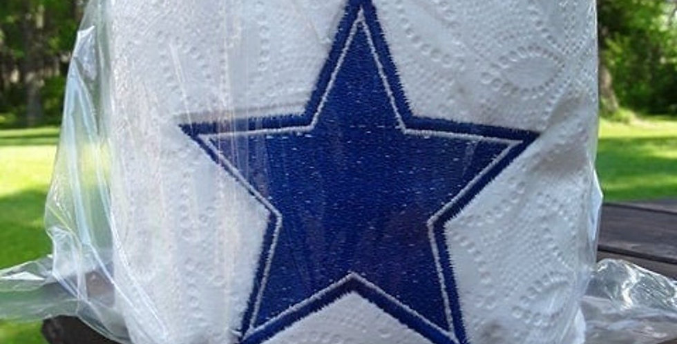 Football Dallas Cowboys Type Star EMBROIDERED Toilet Paper Secret Santa
