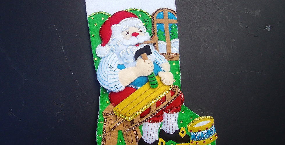 FINISHED! Bucilla Woodworking Santa
