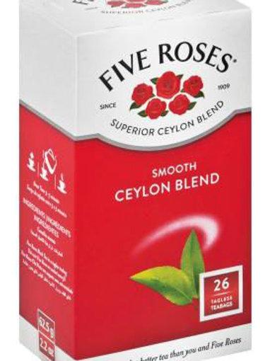 Five Rose Tea Bags - 26bags Ceylon Blend