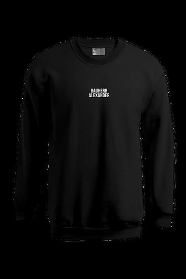 "Sweatshirt ""Bauherr+Name"", schwarz"