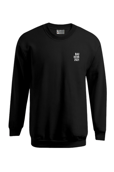 """Sweatshirt """"Bauherr+Jahr"""", schwarz"""