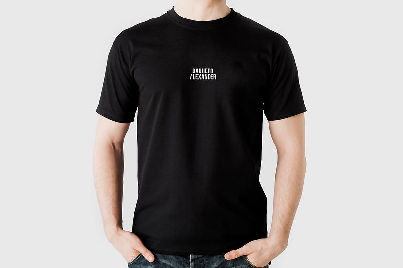 "T-Shirt ""Bauherr+Name"", schwarz"