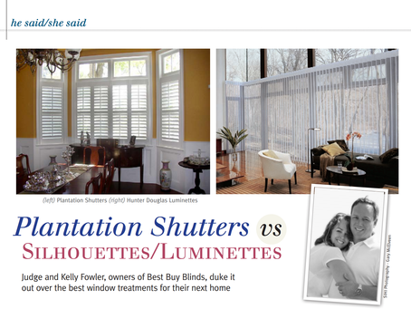Plantation Shutters vs Silhouettes/Luminettes