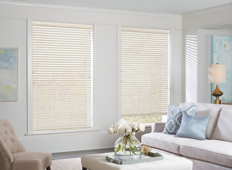"""The fastest Window Treatment on the market? 2"""" Faux Wood Blinds are ready to go!"""