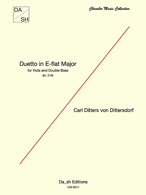 C. D. von Dittersdorf - Duetto in E-flat Major for Viola and Double Bass