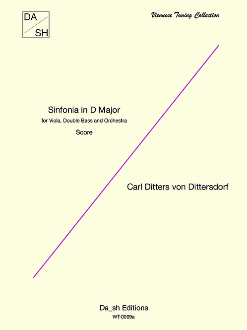 C.D. von Dittersdorf - Sinfonia in D Major for Viola, D. Bass & Orchestra- score