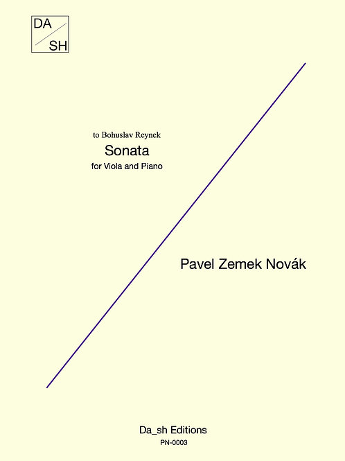 Pavel Zemek Novák - Viola Sonata for Viola and Piano