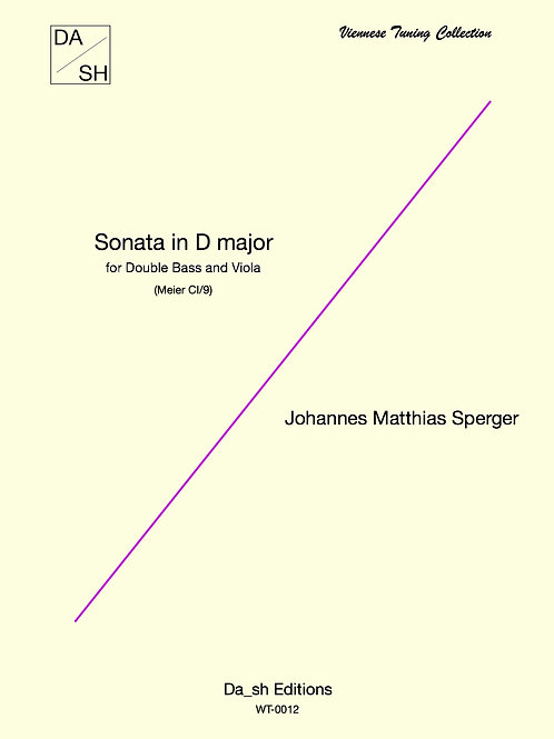 J.M. Sperger - Sonata for Double Bass and Viola in D Major (Meier CI/9)
