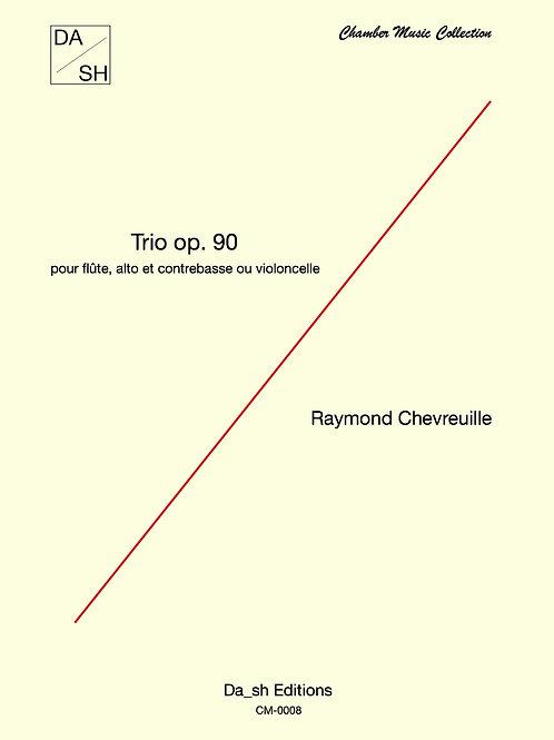 Raymond Chevreuille - Trio Op. 90 pour flûte, alto et contrebasse ou violoncelle