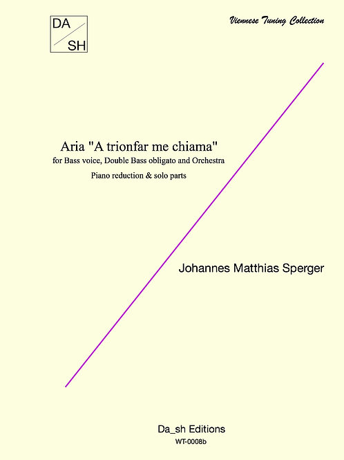 """J.M. Sperger - Aria """"A trionfar me chiama"""" for Bass, Double Bass and piano"""
