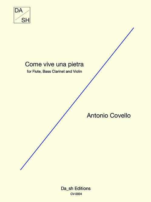 Antonio Covello - Come vive una pietra for Flute, Bass clarinet and Violin