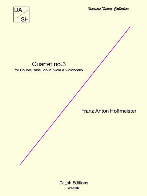 F. A. Hoffmeister - Quartet No.3 for Double Bass, Violin, Viola & Violoncello