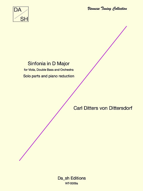 C.D. von Dittersdorf - Sinfonia in D Major - Solo parts and piano reduction