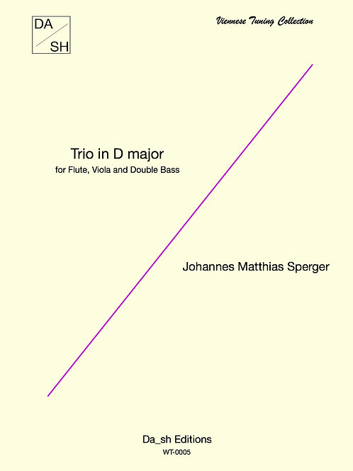 J. M. Sperger - Trio in D major for Flute, Viola and Double Bass