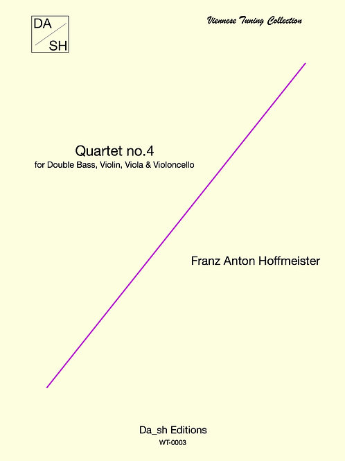 F. A. Hoffmeister - Quartet No.4 for Double Bass, Violin, Viola & Violoncello