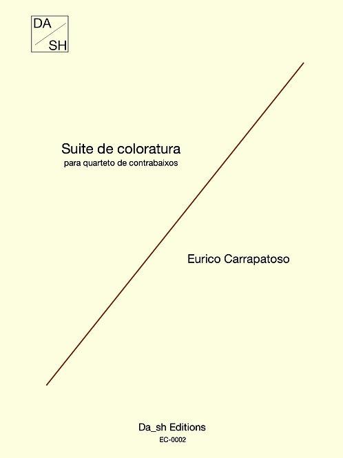 Eurico Carrapatoso - Suite de coloratura para quarteto de contrabaixos