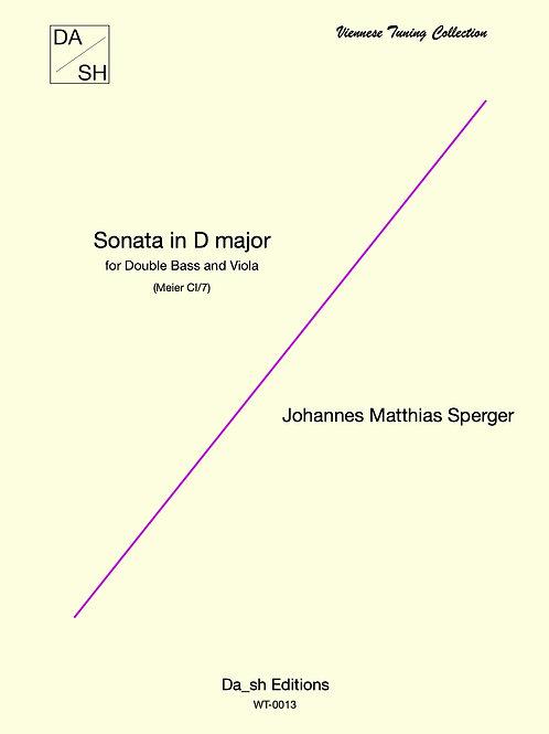 J. M. Sperger - Sonata in D Major forDouble Bass and Viola (Meier CI/7)