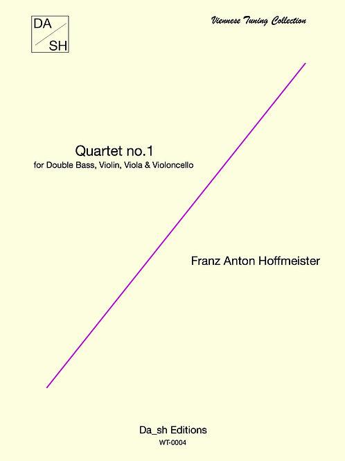 F. A. Hoffmeister - Quartet no.1 for Double Bass, Violin, Viola & Violoncello