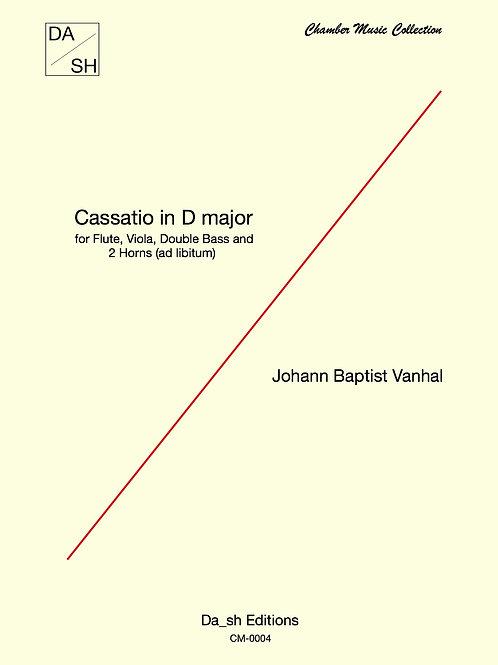 J.B.Vanhal - Cassatio in D major for Flute, Viola, Double Bass & 2 Horns (ad lb)