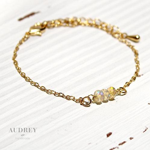 Three Opals Gold Bracelet