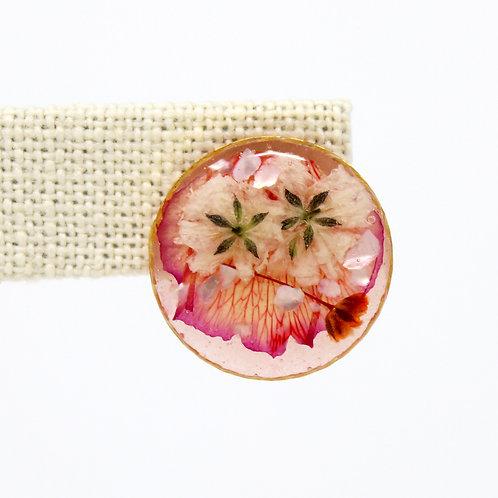Peach Carnation Gold Earrings
