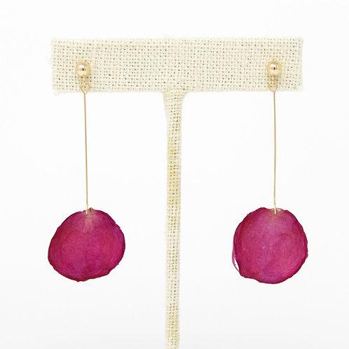 Pink Rose Gold Drop Earrings
