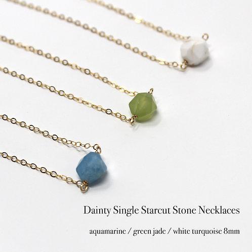 Dainty Single Starcut Stone Necklace