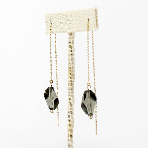 Fancy Swarovski Crystal Threader Earrings