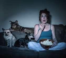 Jody Bently watches a Scary Movie with S