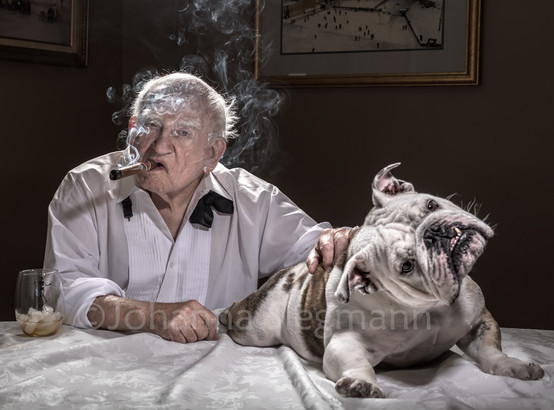 Ed Asner with Dudley