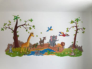Handpainted childrens's Mural 8' x 5'