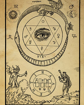 alchemy_woodcut_omnia_unus_est_by_dashin
