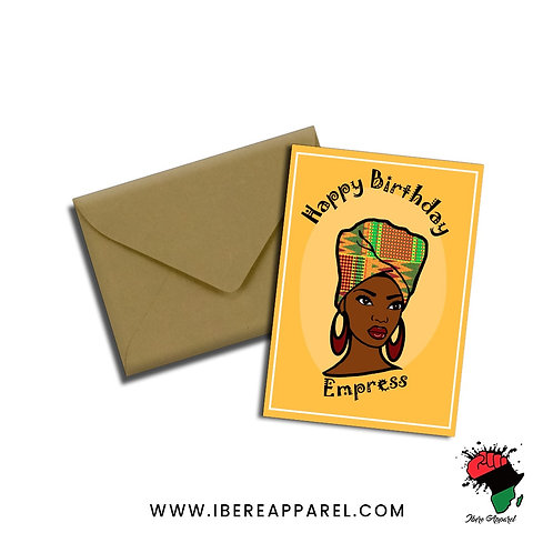 Zhade | Happy Birthday Empress | Greeting Card