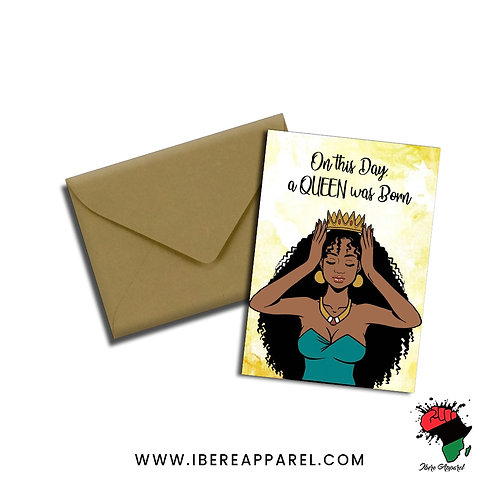 MILKA | ON THIS DAY, A QUEEN WAS BORN  |  Greeting Card