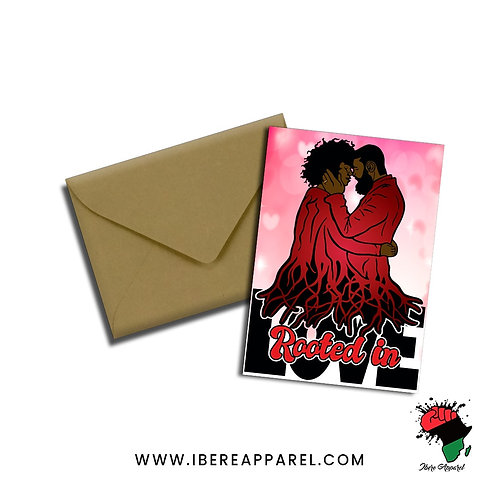 Luthando & Fa'izah | Rooted In LOVE | Valentines  - Greeting Card