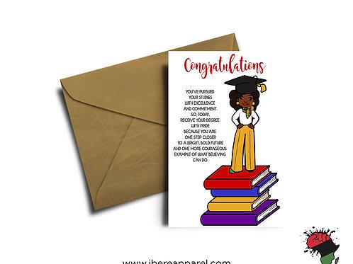 BIMPE   CONGRATULATIONS   Graduation Card  Greeting Card