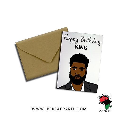DARE   HAPPY BIRTHDAY KING    Greeting Card