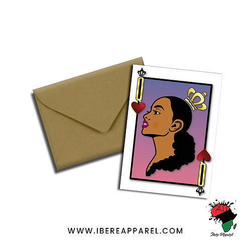 Queen Of Hearts | Greeting Card