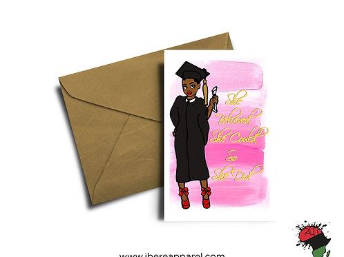 LOLA   CONGRATULATIONS   Graduation Card    Greeting Card
