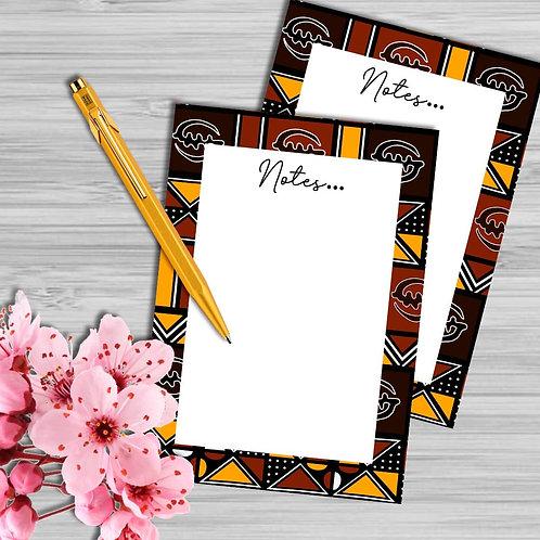 Gye Nyame Bogolan Pattern | A6 NOTEPAD