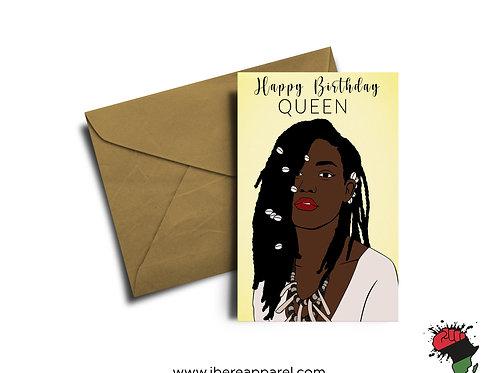 MISIMI | Happy Birthday QUEEN | Greeting Card