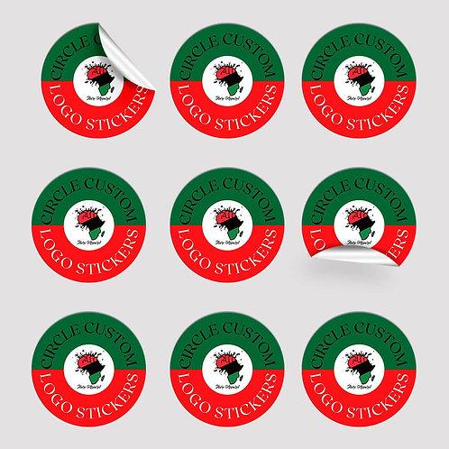 Circle Custom Logo Stickers