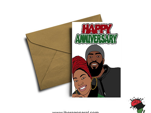 LEYE & BUKY | HAPPY ANNIVERSARY | Greeting Card