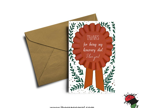 Honorary Dad Father's Day |  Greeting Card
