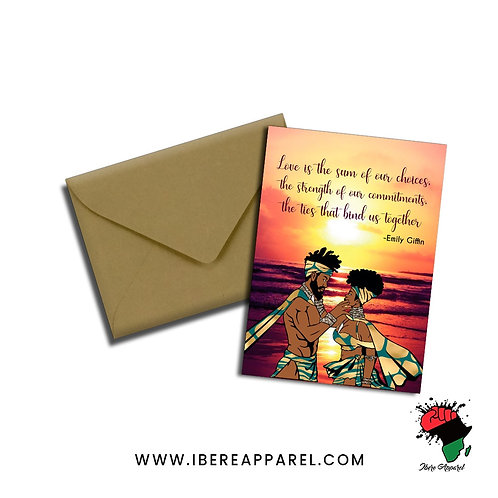 BLACK LOVE |  Greeting Card