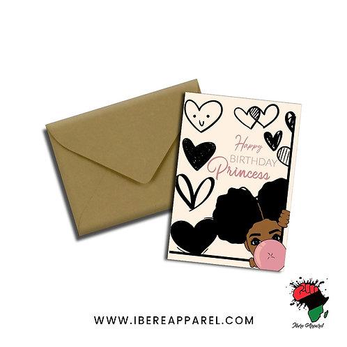 Folaoluwashade | HAPPY BIRTHDAY PRINCESS | Greeting Card