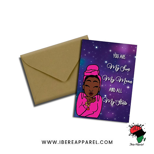 MY SUN, MY MOON, MY STARS |  Greeting Card