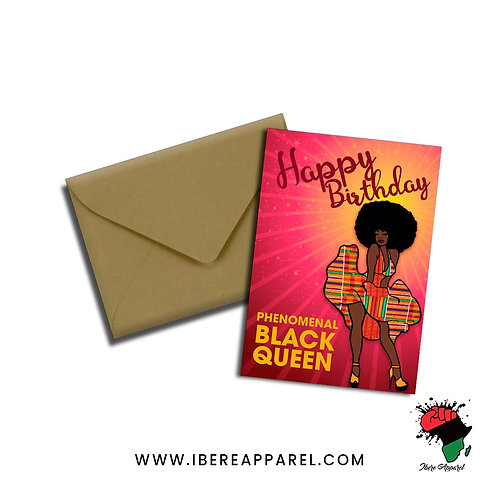 BIOLA |  PHENOMENAL BLACK WOMAN | Greeting Card