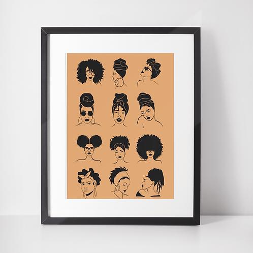 The Black Woman Art Print